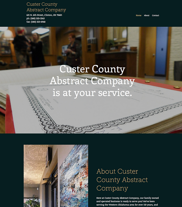 Custer County Abstract - Web Design