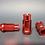 Thumbnail: 12x1.50 Extended Aluminum Wheel Nut Set Red