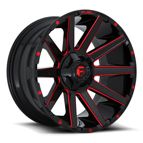 22x12 Fuel Contra Black/Red