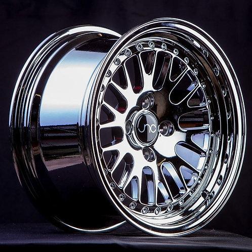 JNC 001 Platinum / Chrome Rivets