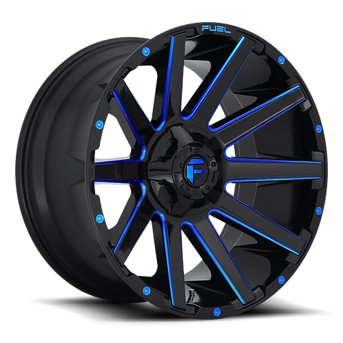 20x10 Fuel Contra Black/Blue