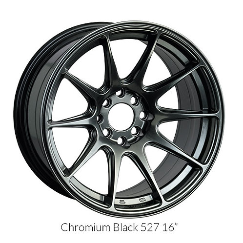17x8.25 XXR 527 Chromium Black