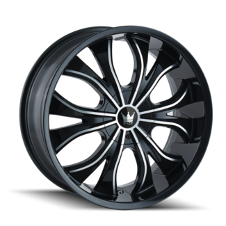 20x8.5 Mazzi Hustler Black/Machined