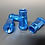 Thumbnail: 12x1.25 Extended Aluminum Wheel Nut Set Blue