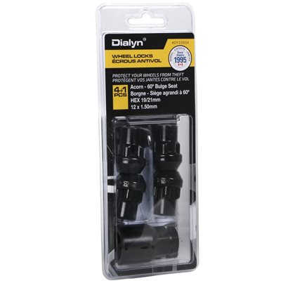 12x1.50 Wheel Lock Kit Black