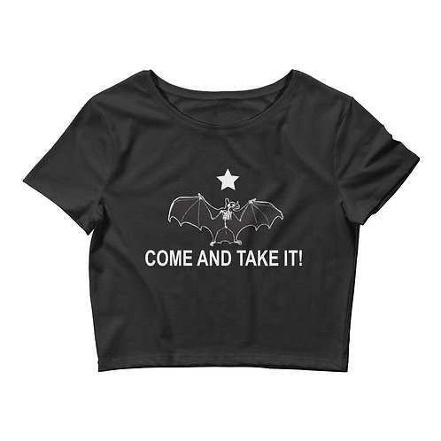 BAT COUNTRY FC COME AND TAKE IT Women's Crop Tee