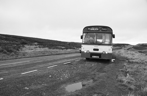 Graeme Scarlett, the owner of the bus lining her up for a scene. With out his incredible commitment and support this project wouldn't have been possible. Our deepest thanks.