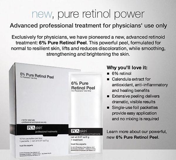 Loved using the PCA 6% retinol peel in c