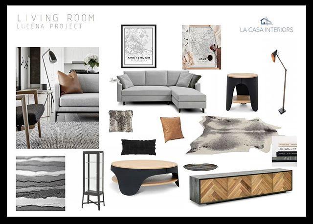 Living room mood board for my bachelor c