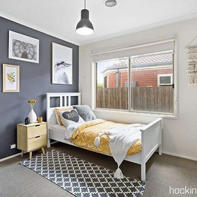 GUESTROOM | This moody yet bright bedroo