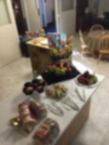 Sample breakfast setup