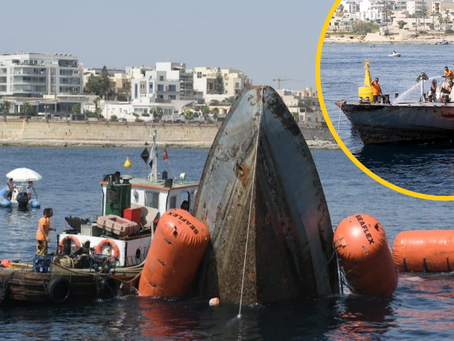 Former AFM Patrol Boat Sunk To Create New Diving Site Off Żonqor Point
