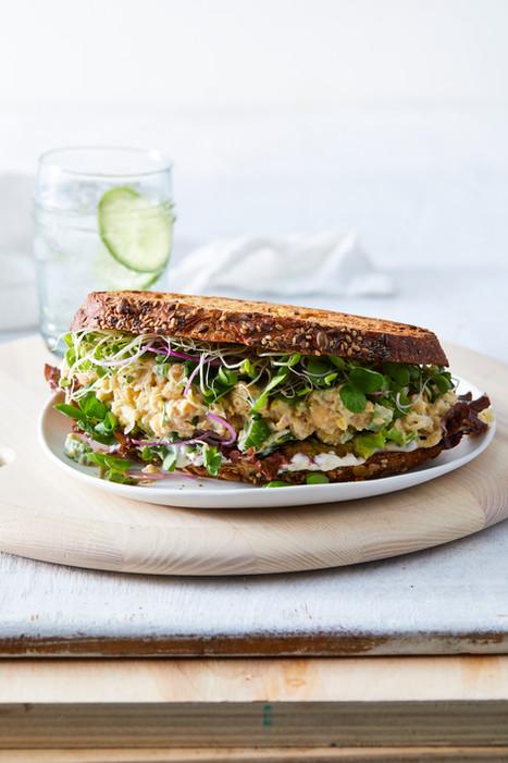 chickpea salad sandwich
