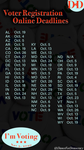 Voter Registration Deadlines
