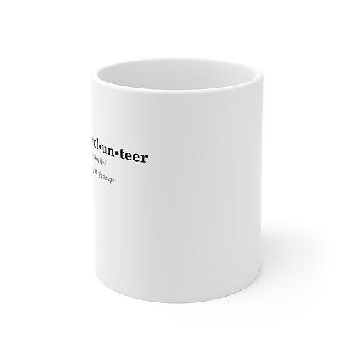 VOLUNTEER 11oz White Mug