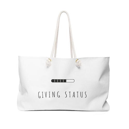 Giving Status Weekender Bag