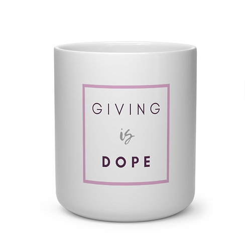 Giving is Dope Heart Shape Mug