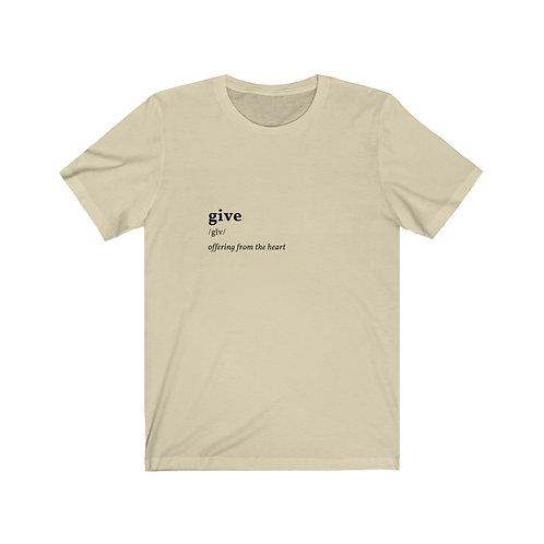 Give Unisex Jersey Short Sleeve Tee