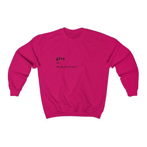 Give Unisex Heavy Blend™ Crewneck Sweatshirt