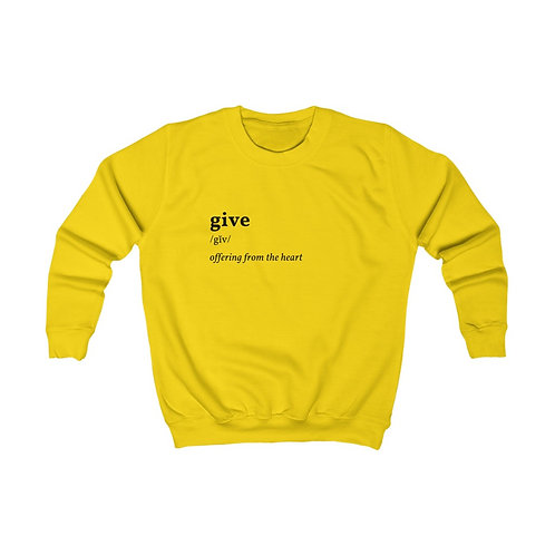 Give Kids Sweatshirt