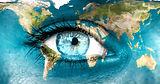 blue woman eye earth SMALL SIZE dreamsti