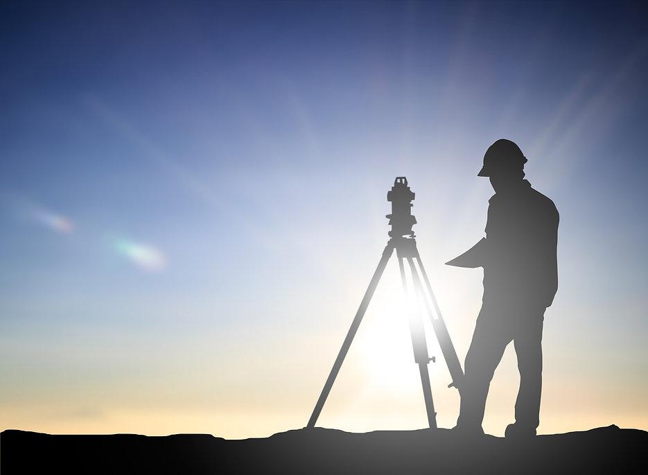 silhouette black man survey and civil en