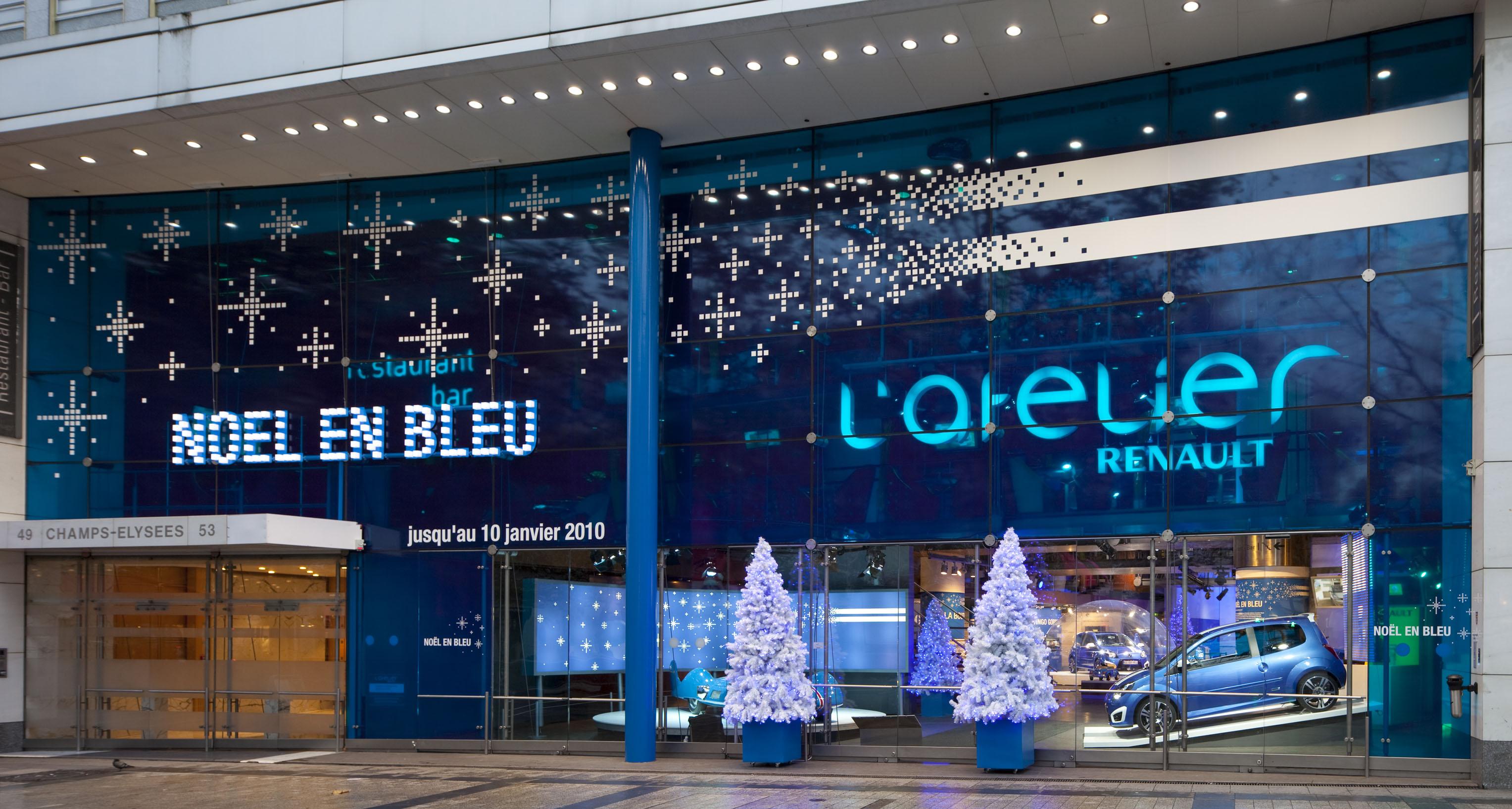 Atelier Renault- Noel en Bleu