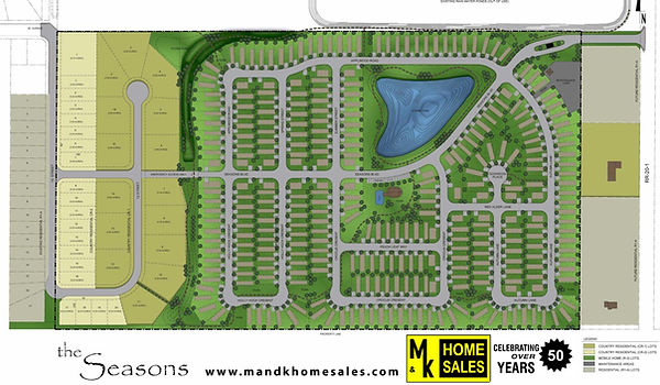 The Seasons Park in Coaldale, Alberta. M&K can provide modular and manufactured homes for this park.