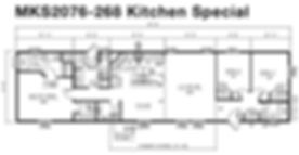 Floorplan of an M&K Homes Triple M Modular home in Alberta