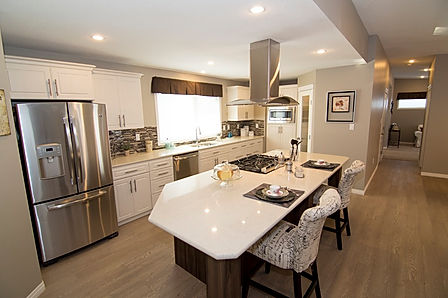 Beautiful Kitchen of a M&K Home Sales Modular RTM Home. Modular Homes Alberta