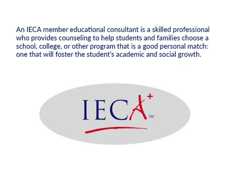 Independent Educational Consultants Association (IECA) Membership