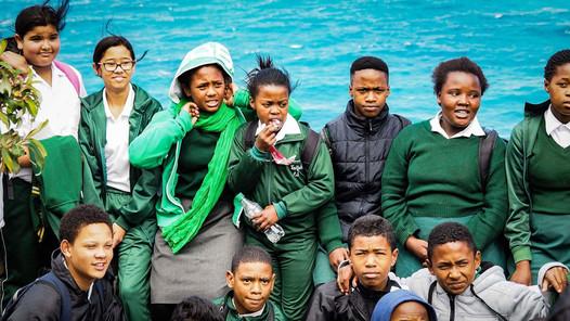 Des étudiants en Afrique du Sud.