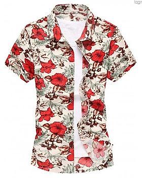 turn-down-collar-fleur-chemise-a-manches
