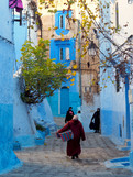 Les ruelles de Chefchaouen au Maroc
