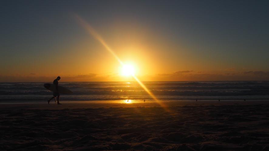 Couché de soleil en Autralie