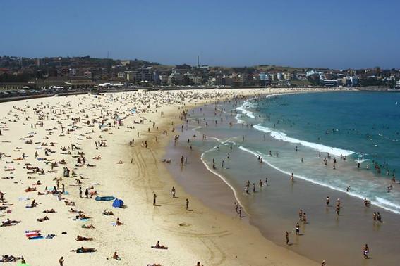 Plage de Bondi Beach en Australie