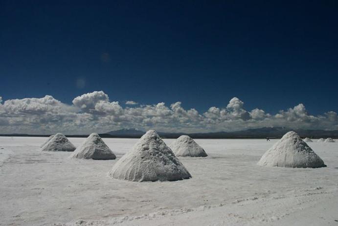 Lac de sel en Bolivie