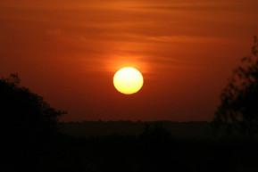 Couché de soleil en Inde