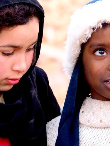Portrait de jeunes filles au Maroc
