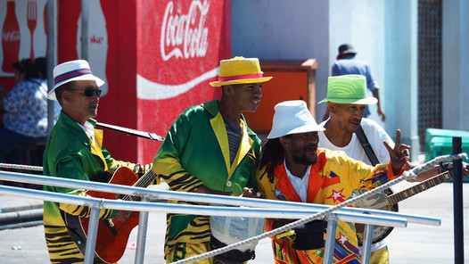 Des musiciens en Afrique du Sud