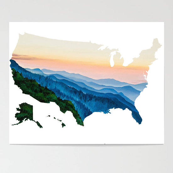 Smoky Mountains, TN Print
