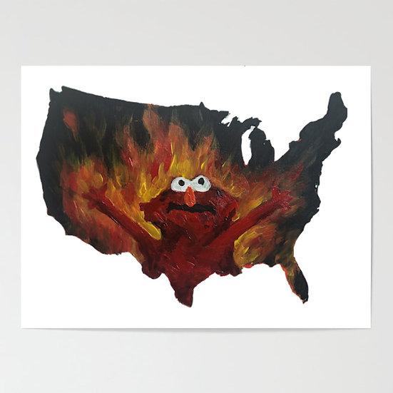 Firey America Elmo