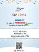 Bazar de Carnaval da APOV