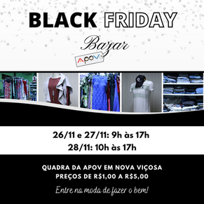 Black Friday do bazar da APOV