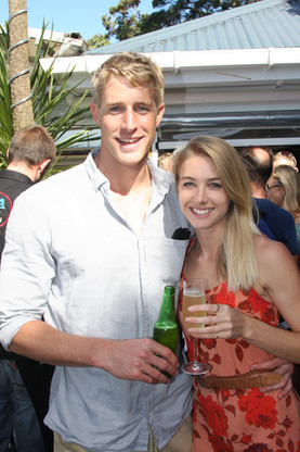 Jordan and Kristy at the book launch - L