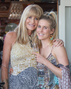 Lindy with Carli at the book launch - Li