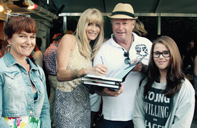 Knight family at the book launch - Lindy
