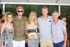 Davis family at the book launch - Lindy
