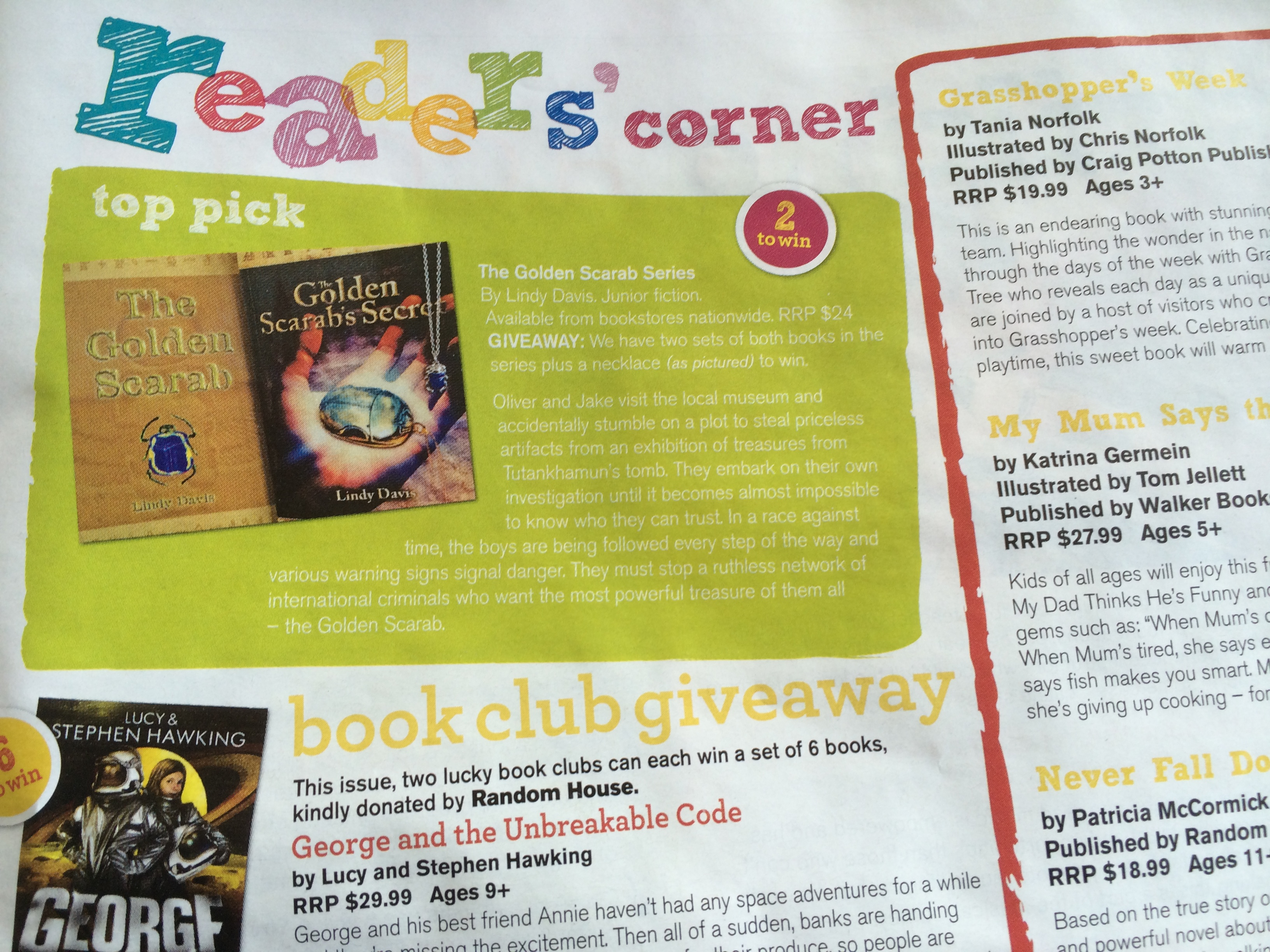 Top pick in Teens magazine