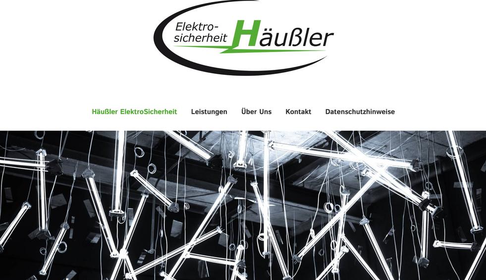 Relaunch Elektrosicherheit Häußler